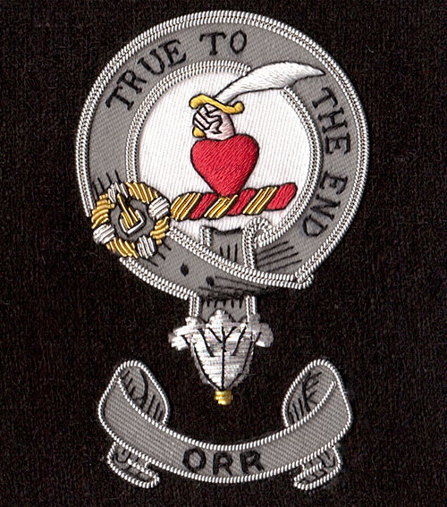 Embroidered Illustration Version of Orr Clan Badge