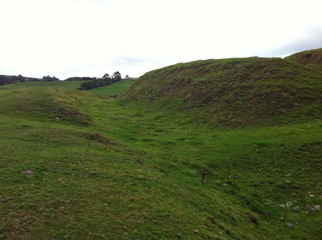 Motte of Urr – Bailey Ditch