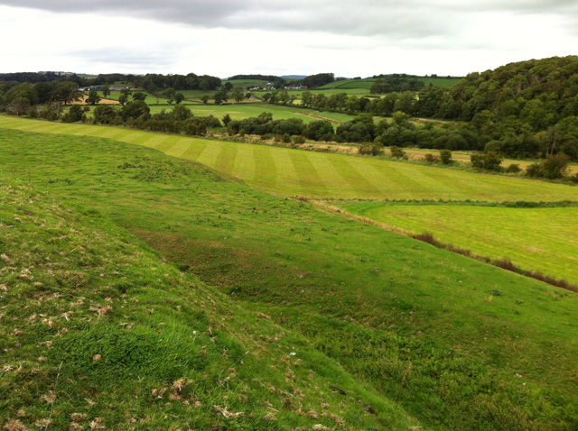 Motte of Urr – Bailey View